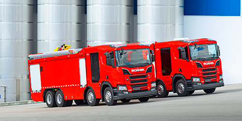Scania fire truck